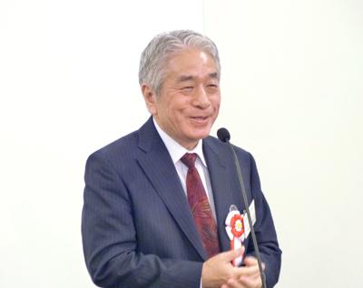 挨拶をする藤田氏